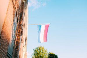 houten vlaggenmast